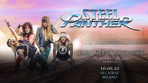 Steel Panther - Milano - Alcatraz - Summer Tour 2020 - Promo