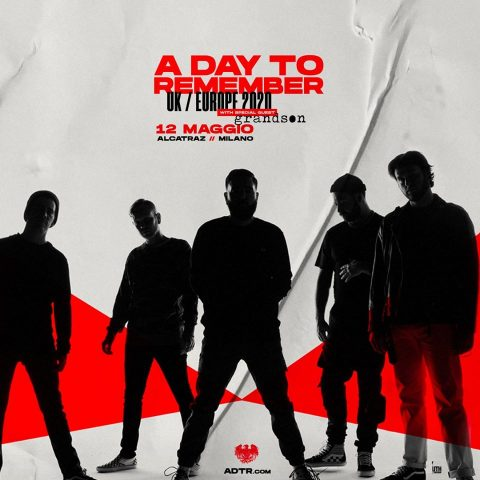 A Day To Remember - Alcatraz - UK - Europe Tour 2020 - Promo