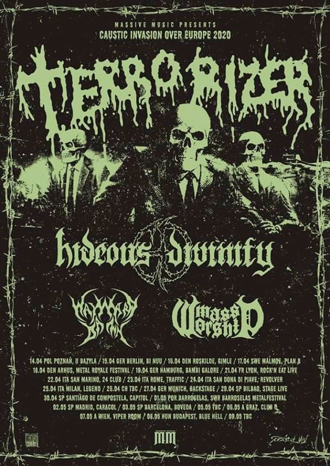 Terrorizer - Hideous Divinity - Mass Worship - Wayward Dawn - Caustic Invasion Over Europe 2020 - Promo