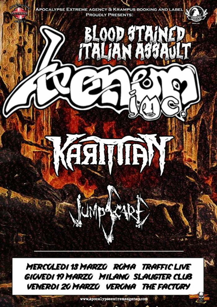 Venom Inc. - Karmian - Jumpscare - Blood Stained Italian Assault - Tour 2020 - Promo