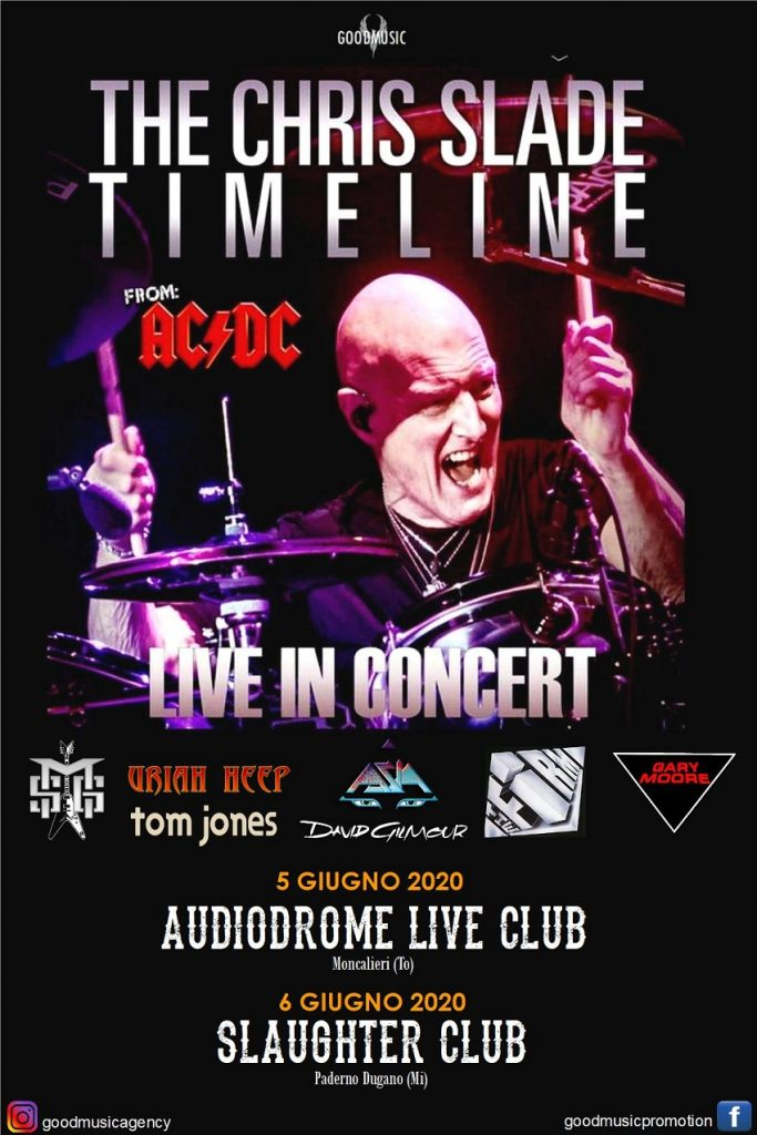 Chris Slade - The Chris Slade Timeline - Tour 2020 - Promo