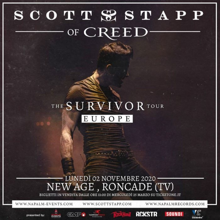 Scott Stapp - The Survivor Tour Europe 2020 - Promo