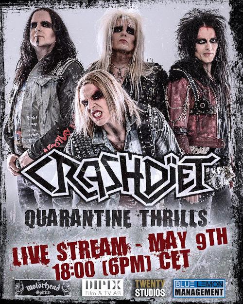 Crashdiet - Quarantine Thrills - Programma Live