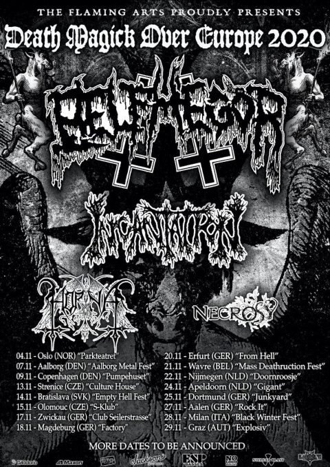 Belphegor - Incantation - Horna - Death Magick Over Europe - Tour 2020 - Promo