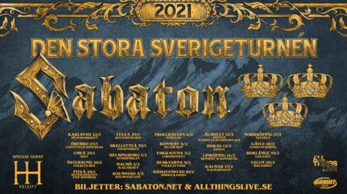 Sabaton - Den Stora Sverigeturnèn - 2021 - Promo