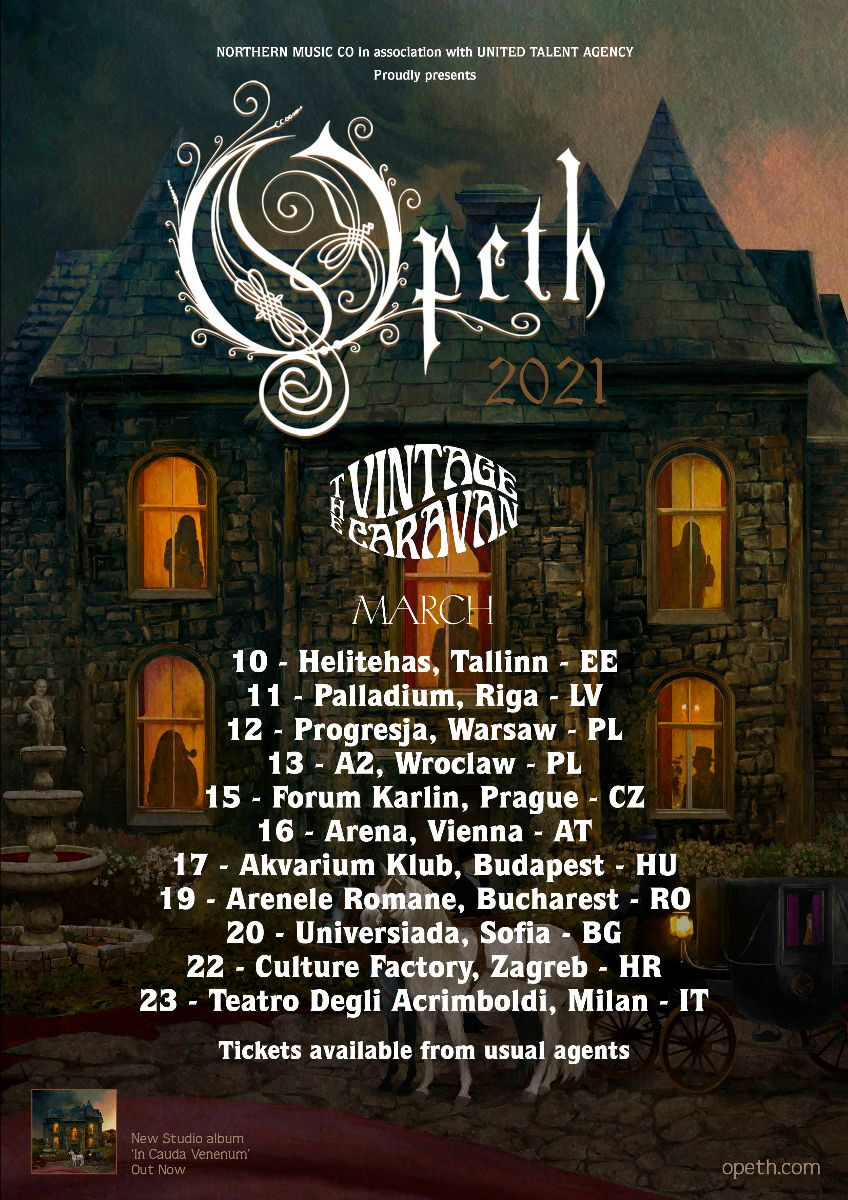 Opeth - The Vintage Caravan - European Tour 2021 - Promo