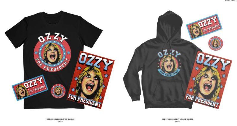 Ozzy Osbourne - Ozzy For President - Merchandise