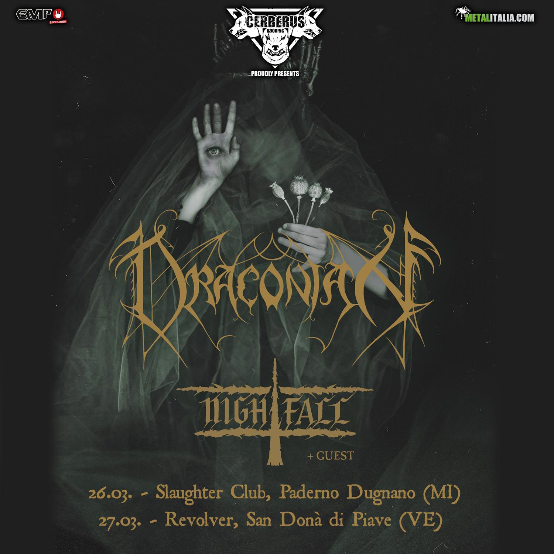 Draconian - Nightfall - Italian Tour 2021 - Promo