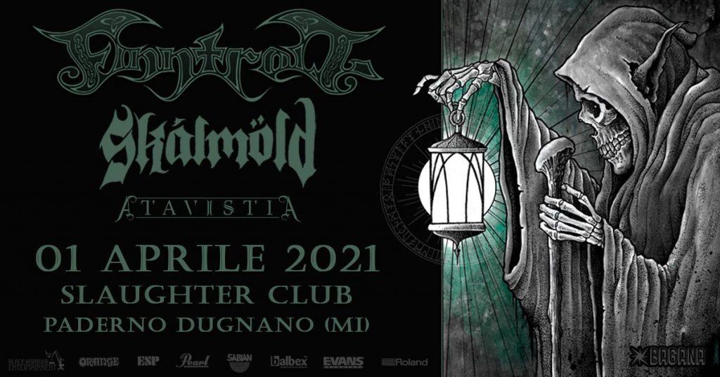 Finntroll - Skálmöld - Atavistia - Slaughter Club - Tour 2021 - Promo
