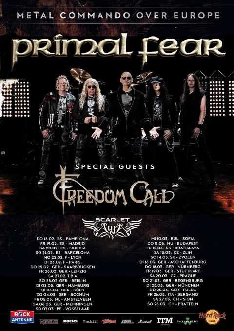 Primal Fear - Freedom Call - Scarlet Aura - Commando Over Europe - Tour 2021 - Promo