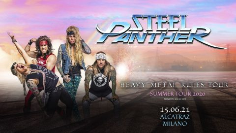 Steel Panther - Heavy Metal Rules Tour - Alcatraz - Milano - 2021 - Promo