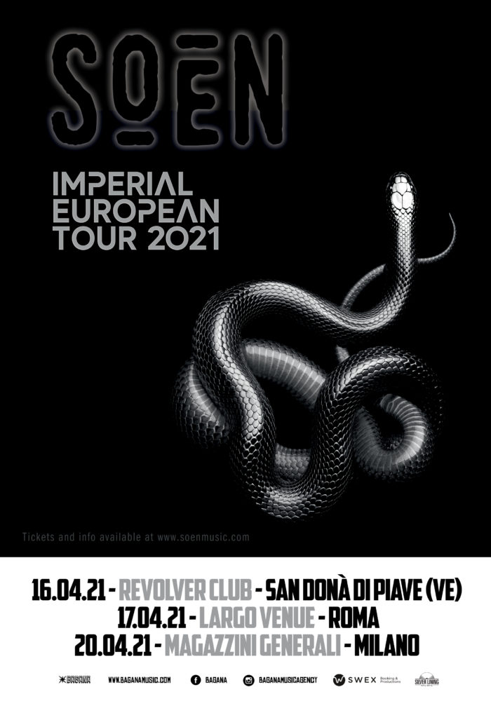 Soen - Imperial European Tour 2021 - Promo