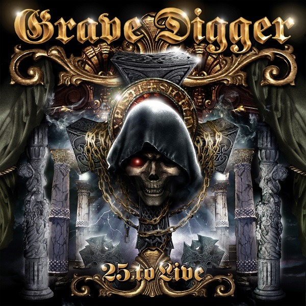 Grave Digger - 25 To Live - Album Cover