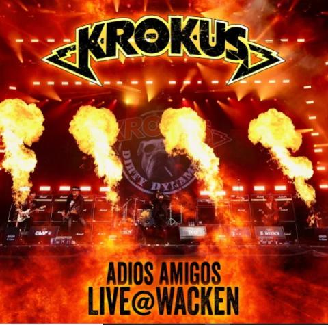 Krokus - Adios Amigos Live @ Wacken - Album Cover
