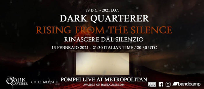 Dark Quarterer - Live In Streaming - Pompei Live At Metropolitan 2021 - Promo