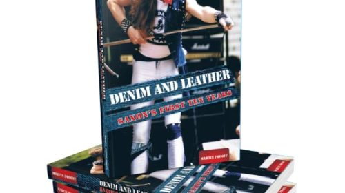 Saxon - Denim And Leather Saxons First Ten Years - Book Cover