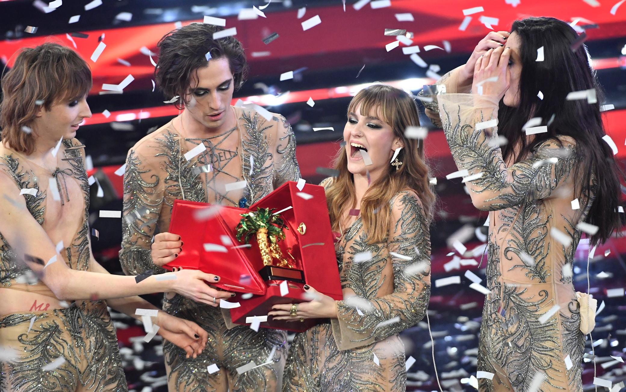 I Maneskin vincitori del 71° Festival di Sanremo