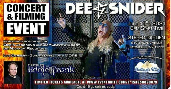 Dee Snider - Live In New York - Promo