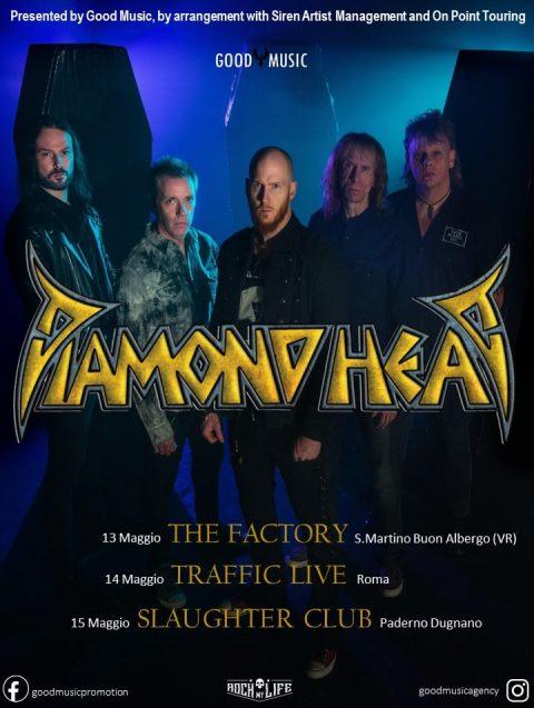 Diamond Head - Live In Italy - Tour 2022 - Promo