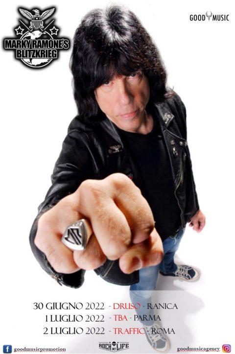 Marky Ramones Blitzkrieg - In Italia - Tour 2022 - Promo