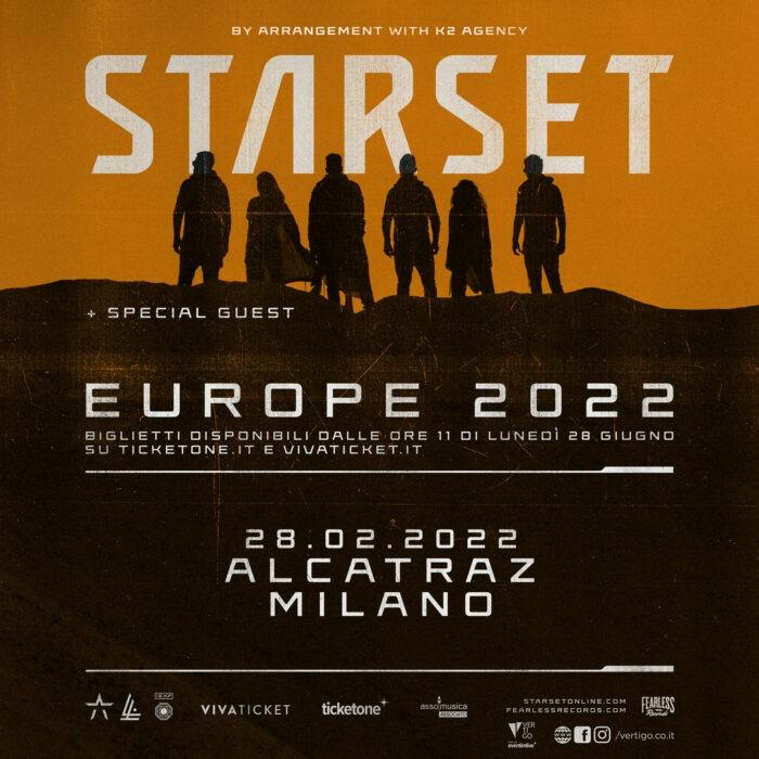 Starset - Milano - Alcatraz - Europe 2022 - Promo