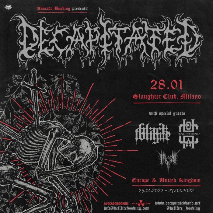 Decapitated - Slaughter Club - Milano - Italian Tour 2022 - Promo