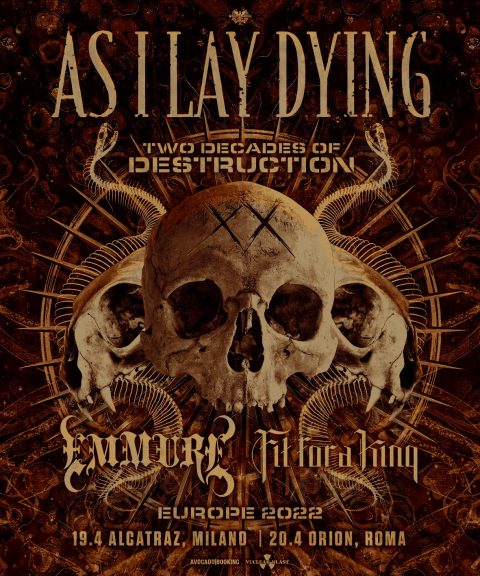 As I Lay Dying - Emmure - Fit For A King - Europe 2022 - Promo