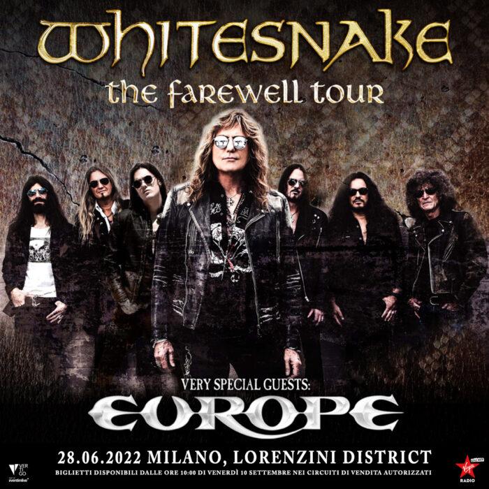 Whitesnake - Europe - Milano - Lorenzini District - The Farewell Tour 2022 - Promo