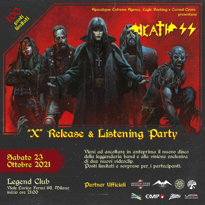 Death SS - Ten Release And Listening Party - Legend Club - Milano 2021 - Promo
