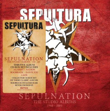 Sepultura - Sepulnation The Studio Albums 1998 - 2009 - Boxset Cover